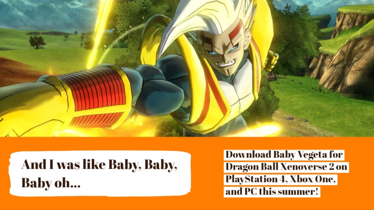 Baby Vegeta Announcement Ad for Dragon Ball Xenoverse 2