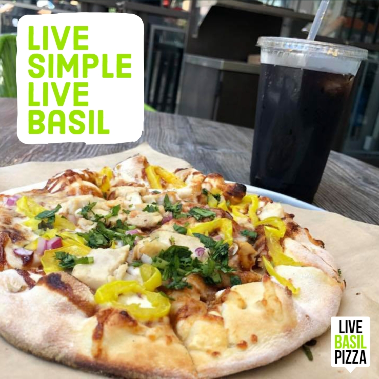 Live Basil Pizza Ad Instagram